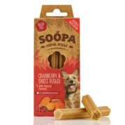 Soopa Cranberry & Sweet Potato Dental Sticks Dog Treats 100g