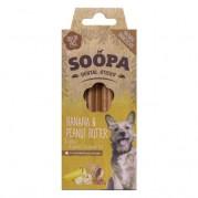 Soopa Banana & Peanut Butter Dental Sticks Dog Treats 100g